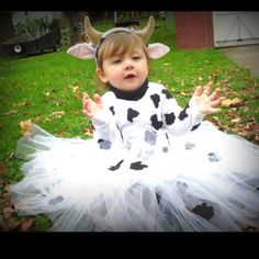 A fluffy cow costume!