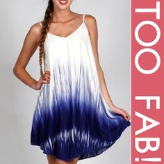 """DIP DYE CAMI DRESS! Cute dip dye cami dress, fully lined, 100% rayon. Super soft. Super pretty. Made in USA NWOT PLEASE DO NOT BUY THIS LISTING! I will personalize one for you.                                                          ♦️SMALL: bust 34"""" length 34.5"""" MEDIUM: bust 36"""" length 36""""♦️LARGE: bust 38"""" length 36.5"""" tla2 Dresses"""