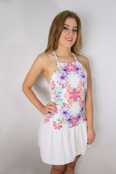 Flower Dress $22 www.skyeboutique.net #SkyeBoutique