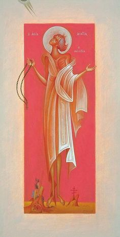 St. Mary Of Egypt Painting