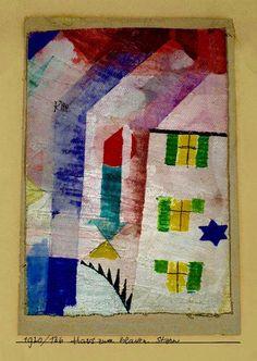 "furtho: "" Paul Klee's Das Haus Zum Blauen Stern, 1920 (via here) """