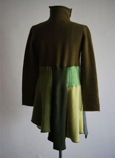 Recycled Sweater Jacket (multiple sweaters in coordinating color)