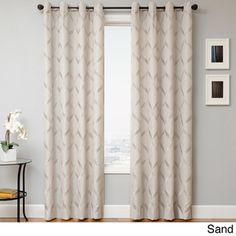 Overstock - Roxy Grommet Top Curtain Panel - Sand (68/panel)