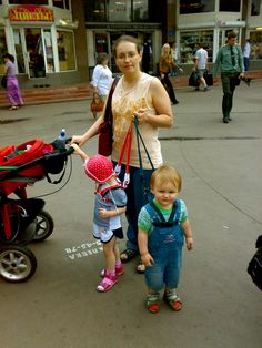Out of #pram to take a walk. #Toddlers are  wearing  #Mothercare harnesses.