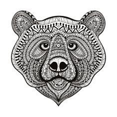 Zentangle estilizadas ter face. Mão desenhada vector illustrat Sarrabisco vector art illustration