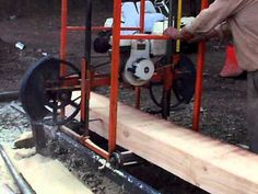 Homemade Sawmill- Upclose video - YouTube