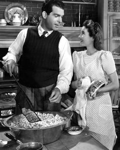 """Barbara Stanwyck and Fred MacMurray in """"Remember the Night""""."""