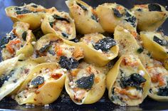 Flavors by Four: Butternut Squash & Spinach Stuffed Shells with Sage Brown Butter