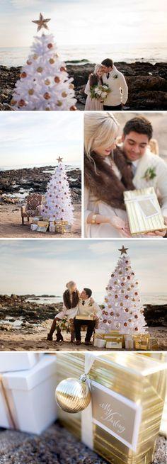 Christmas Engagement Photo Shoot | The Destination Wedding Blog - Jet Fete by Bridal Bar