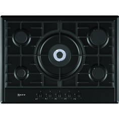 Neff T25S56S0 Series 1 70cm 5 Burner Gas Hob with FSD  in Black £329