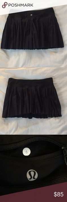 """⭐️SALE⭐️ Lululemon Pleat to Street Skirt Lululemon Pleat to Street Skirt. Material of pleated skirt is swift ultra, waistband lays flat under tops, and shorts underneath are light luxtreme and lycra. Inside of short's seam have non-slip ridge. Measures 15"""" flat across the waist, shorts have a 3"""" inseam, and 12"""" from top to bottom. Amazing condition! lululemon athletica Skirts"""