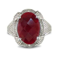 7ct Ruby Rough Cut Diamond Ring Set in Sterling « Holiday Adds