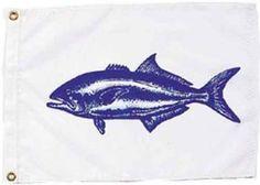"""Bluefish Nautical Fun Flag - Nylon - 12x18"""""""