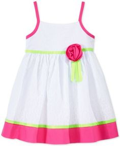 Blueberi Boulevard Baby Girls' Floral-Print Colorblocked Dress