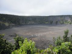 Keanakako'i Crater | Day Trip to Volcanoes National Park...an adze quarry in the pit crater (at 3,468 feet el.) was buried by lava eruption in 1877.