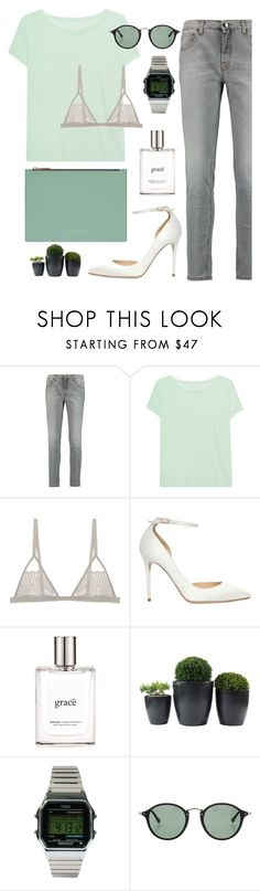 """""""Untitled #174"""" by moderockcity ❤ liked on Polyvore featuring dVb Victoria Beckham, Juvia, Jimmy Choo, philosophy, Timex and Ray-Ban"""