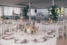 Wedding tables setting. Santorini Weddings, Wedding venue, Wedding ceremony and reception, Sunset view.