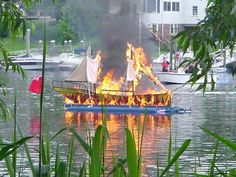 The annual reenactment of the burning of the Gaspee, Warwick, Gaspee Days