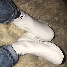 2a04002ba7e Fila X Weekday Florence Sock Shoes in white • Top tier never - Depop White  Tops