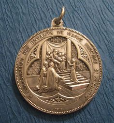 Antique Religious Medal Child Virgin Mary On The by davidjp1927, $64.00