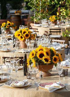 10 FAVORITE FALL WEDDING FLOWERS:  #1. Sunflower: