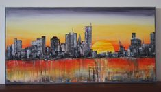TH2017 acrylic cityscape Painting, Art, Craft Art, Paintings, Kunst, Gcse Art, Draw, Drawings, Art Education Resources
