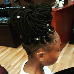 bulky bun with undercut for black women