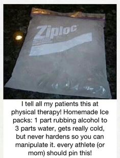 Homemade ice pack!