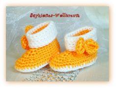 Babyschuhe-gelb ,Handarbeit zum Wohlfühlen