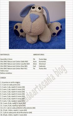 "con A de artesanía: Amigurumi perrito Leopoldo ""Jednostki z: Leopoldo szczeniąt amigurumi"", ""Maybe translate pattern?"", ""Ideas que mejoran tu vida"" Crochet Doll Pattern, Crochet Patterns Amigurumi, Amigurumi Doll, Crochet Dolls, Chat Crochet, Love Crochet, Easy Crochet Animals, How To Start Knitting, Creations"