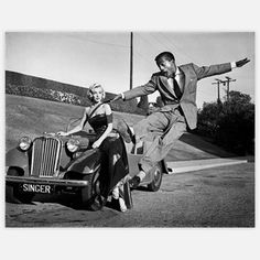 Marilyn Monroe with Sammy Davis Jr. by Frank Worth
