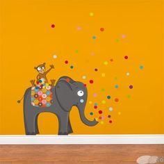 Cest la fete- Wall sticker by Acte Deco Animal Original, School Murals, Baby Boutique, Decoration, Wall Stickers, Kids Room, Snoopy, Rugs, Diy