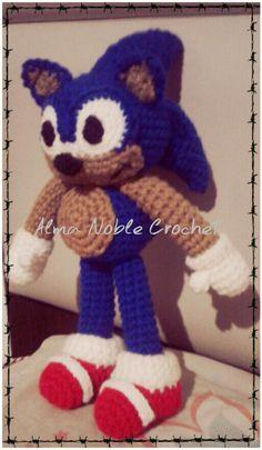 Sonic el eriso amigurumi  versión www.facebook.com/almanoblec