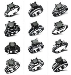 20 Gorgeous Black Diamond Engagement Rings   http://www.deerpearlflowers.com/20-gorgeous-black-diamond-engagement-rings/