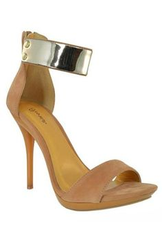 Joanna Gold Ankle Cuff Heels - Tan - $40.00 | Daily Chic Shoes | International Shipping