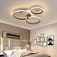 Grey Color Round LED Pendant Lights For Bedroom Home Modern Lamp Fixtures Lustre Plafonnier Dimmable Remote Control Lighting Round Led Ceiling Light, Modern Led Ceiling Lights, Modern Light Fixtures, Led Pendant Lights, Modern Lighting, Pendant Lighting, Low Ceiling Lighting, Ceiling Light Design, Black Ceiling