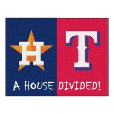 Houston Astros-Texas Rangers MLB House Divided All-Star Floor Mat (34x45)