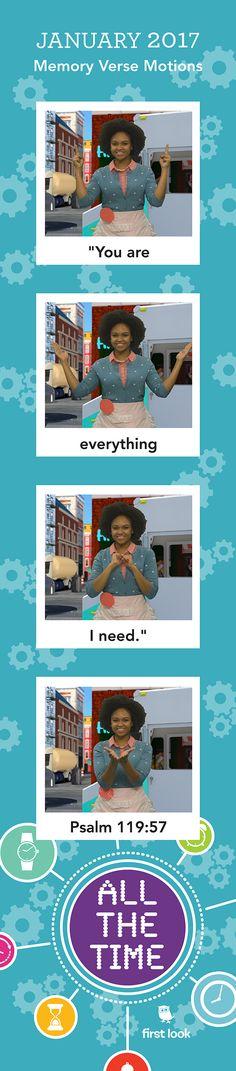 Memory Verse Motions - January 2017 Preschool Bible Verses, Bible Crafts, Memory Verses For Kids, Toddler Sunday School, January Crafts, Program Management, Church Nursery, Kids Church, Bible Lessons