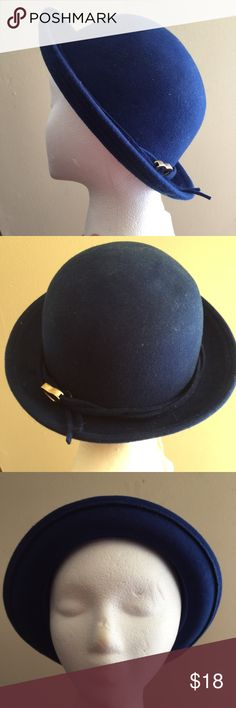 5d5bc8593e4 BCBG Generation Blue Bowler Hat 🧢 Cute Wool Hat Has a few flaws (See pics