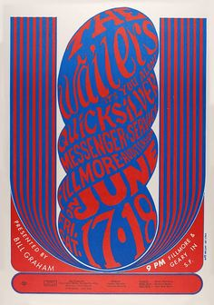 Rock Posters, Band Posters, Music Posters, Wes Wilson, Psychedelic Rock, Psychedelic Posters, Hippie Posters, Fillmore Auditorium, San Francisco