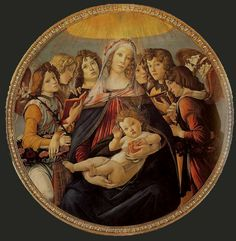 Madonna of the Pomegranate   Sandro Botticelli 1487   Florence, Galleria degli Uffizi