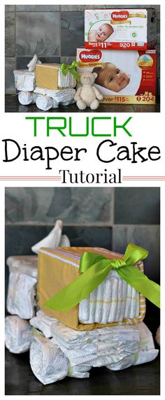 Not sure what to bring to your next baby shower? Whip up this easy truck diaper cake using our step by step tutorial and Huggies Little Snugglers from Sam's Club! #NothingLikeAHug #ad