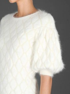 Best of knitwear Alexander McQueen sweater in angora diamond jacquard