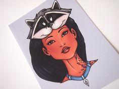 Hunter Pocahontas Postcard by HungryDesigns on Etsy https://www.etsy.com/listing/275918280/hunter-pocahontas-postcard