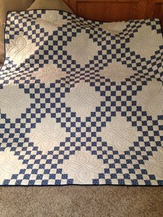 Triple Irish Chain Quilt by SpectacularQuilts on Etsy