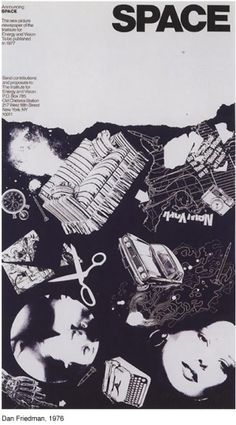"""Poster made with """"found"""" visual elements by Dan Friedman, 1976. Dan Friedman"""