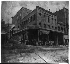 International Hotel, C Street, Virginia City published 1866