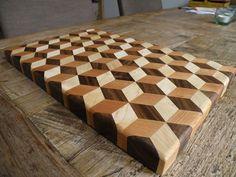 Woodworking ideas 3D cutting board