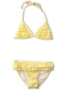 itsy bitsy teenie weenie yellow polka dot bikini...for girls seafolly