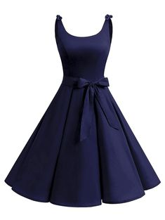 be7718f7254 Vintage Bowknot Skater Party Dress